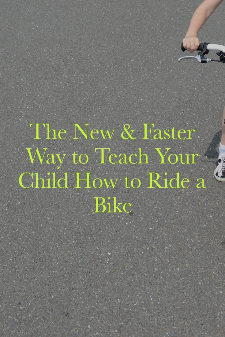 teach a child how to ride a bike