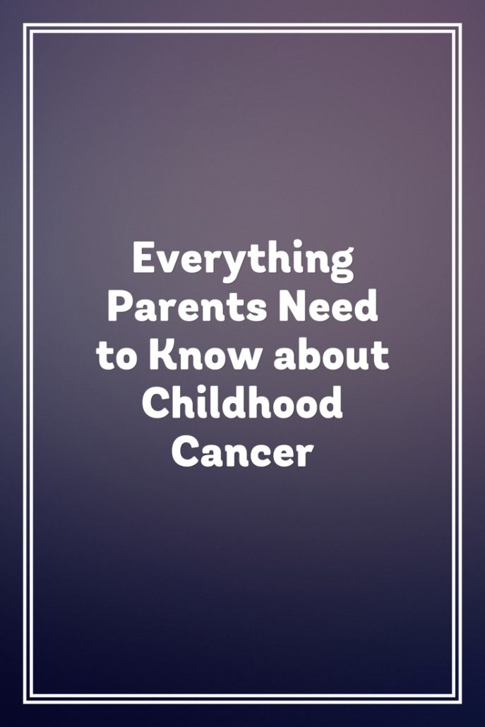 parents guide to childhood cancer