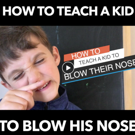 how to teach a child to blow their nose