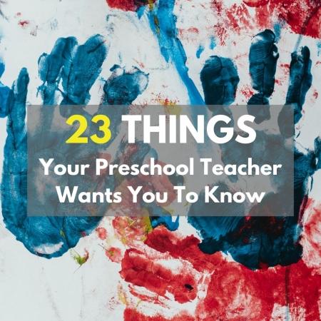 preschool teacher wants you to know