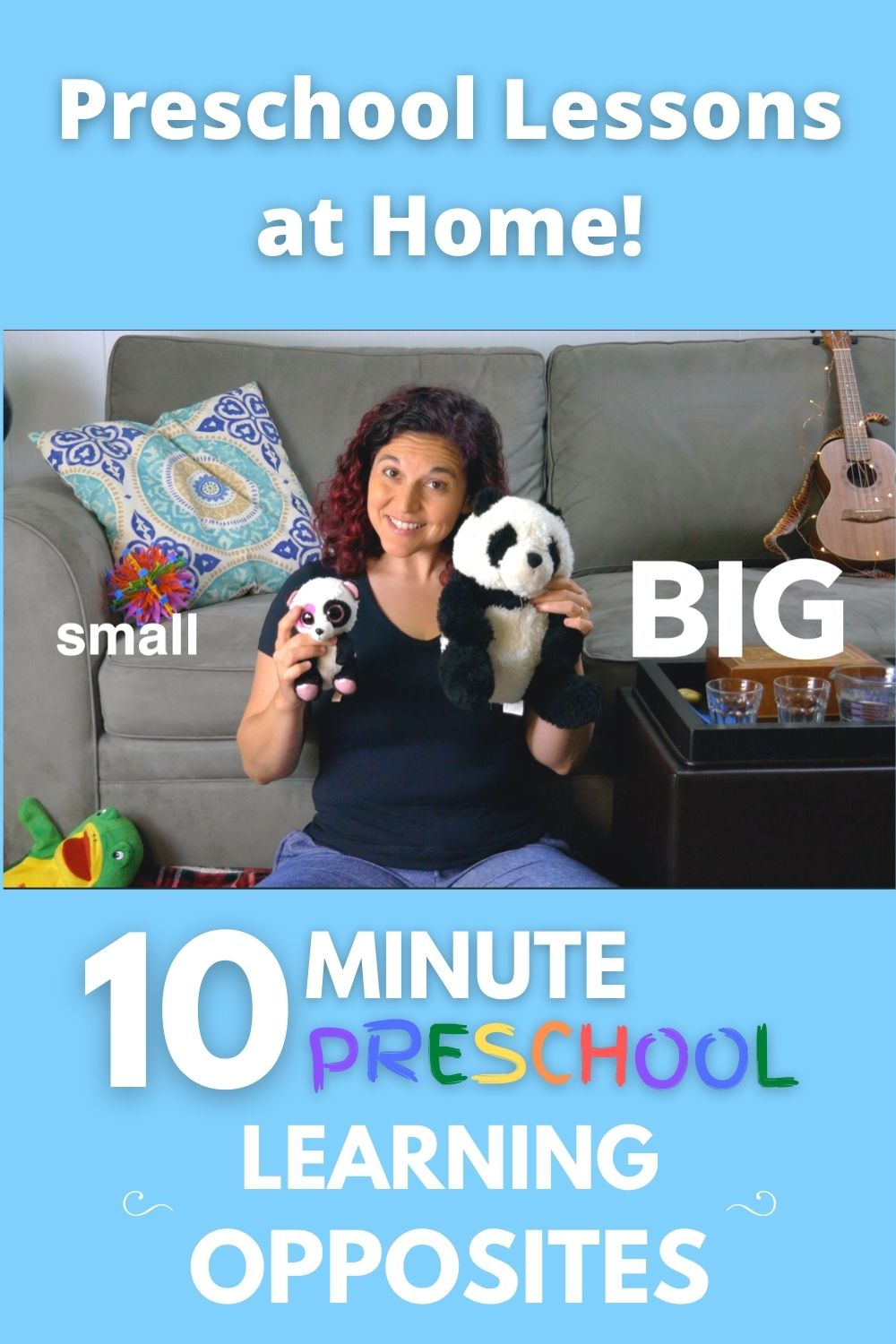 Bring preschool home to your child as Mrs. S teaches kids how to learn opposites + a fun song using opposites to help kids calm down!  